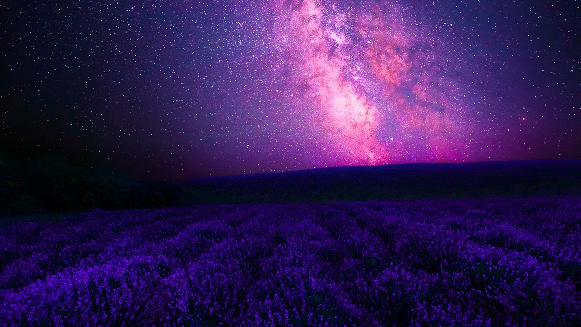 Purple Sky a wallpaper