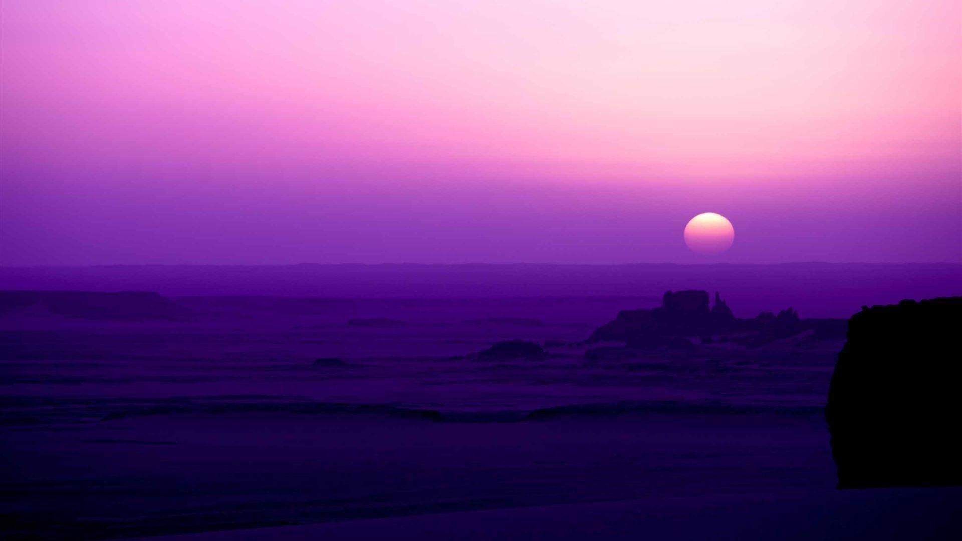 Purple Sky Wallpaper theme