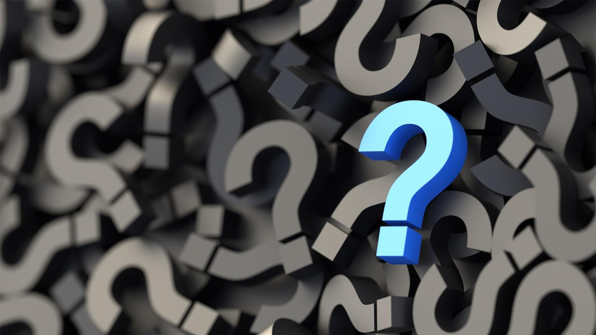 Question Mark Desktop Wallpaper