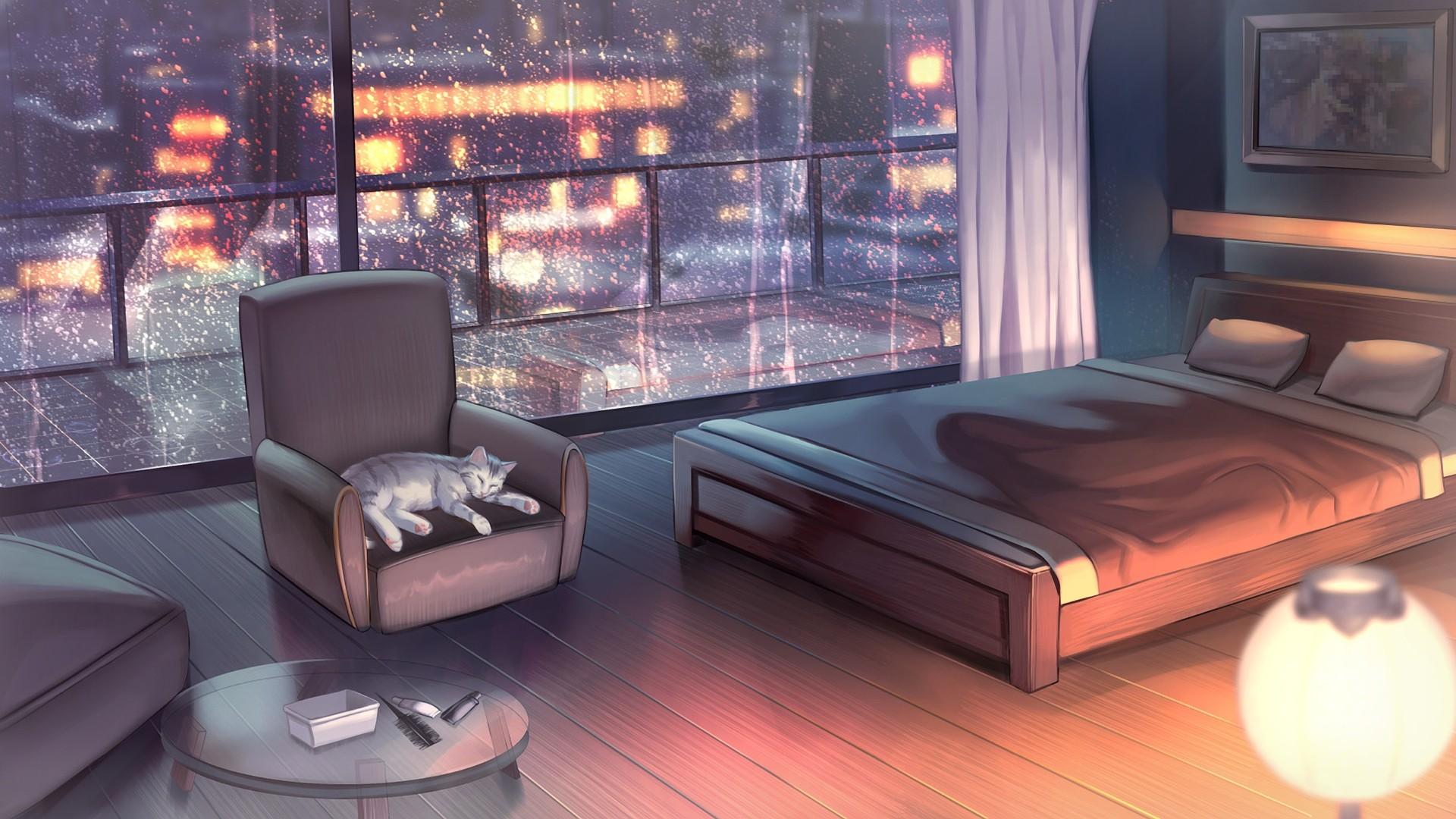 Anime Bedroom hd desktop wallpaper