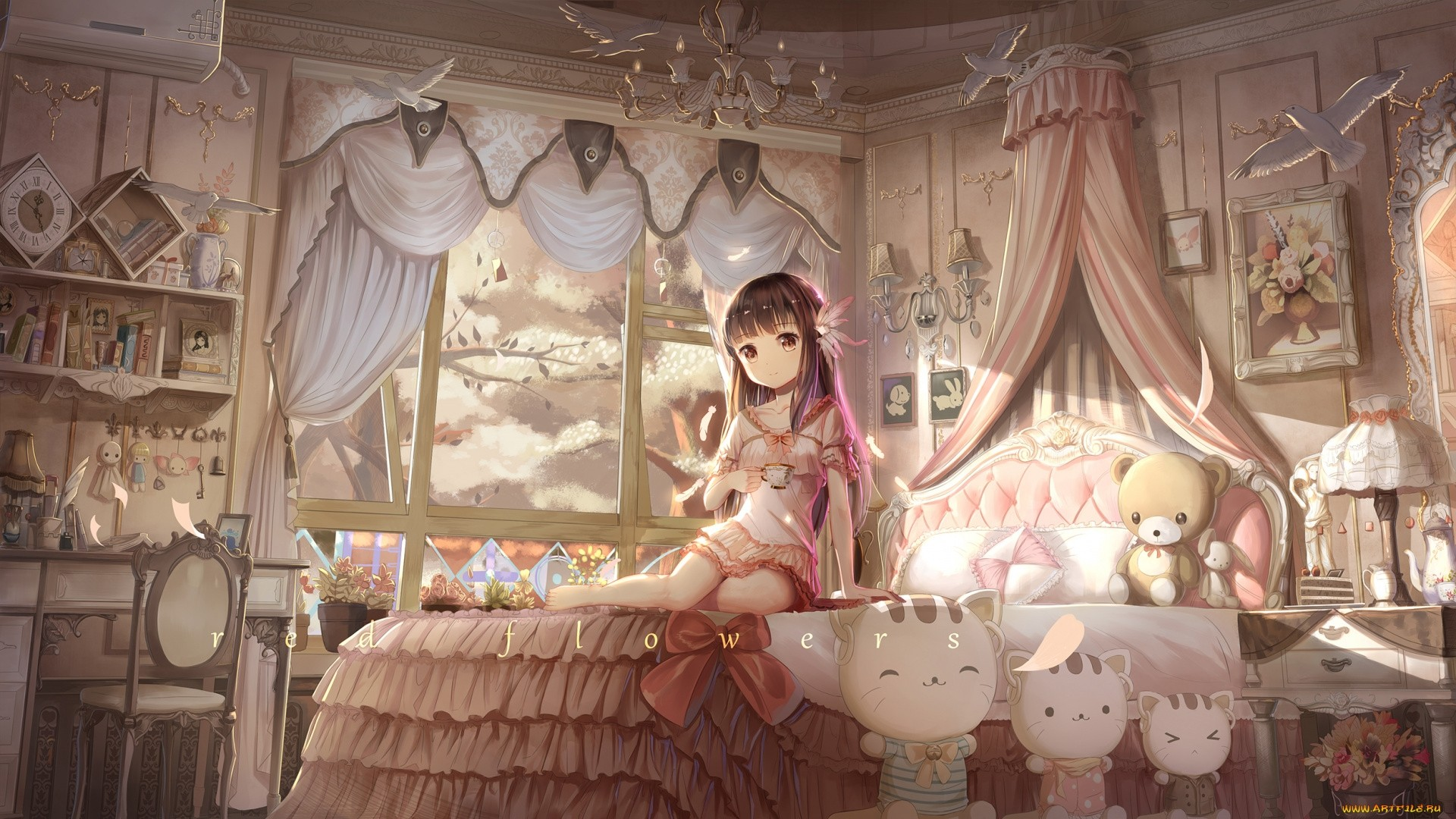 Anime Bedroom HD Wallpaper