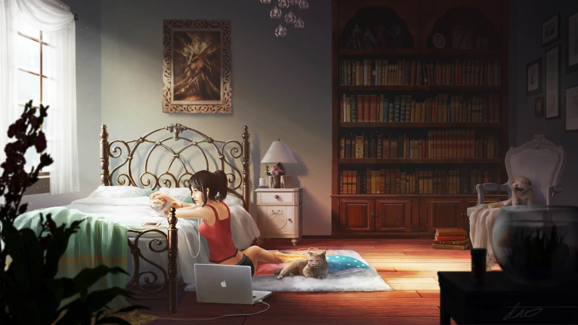 Anime Bedroom Wallpaper and Background