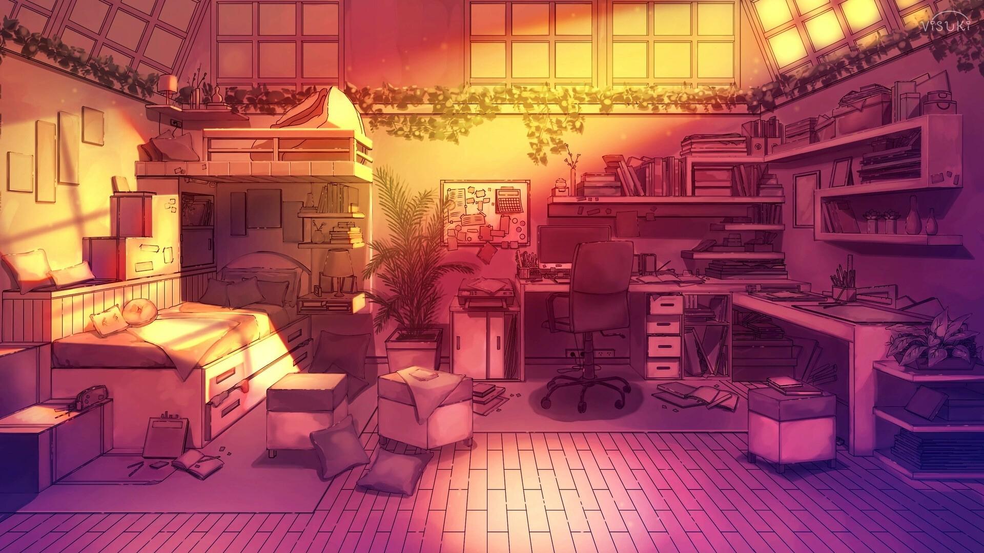 Anime Bedroom Desktop Wallpaper