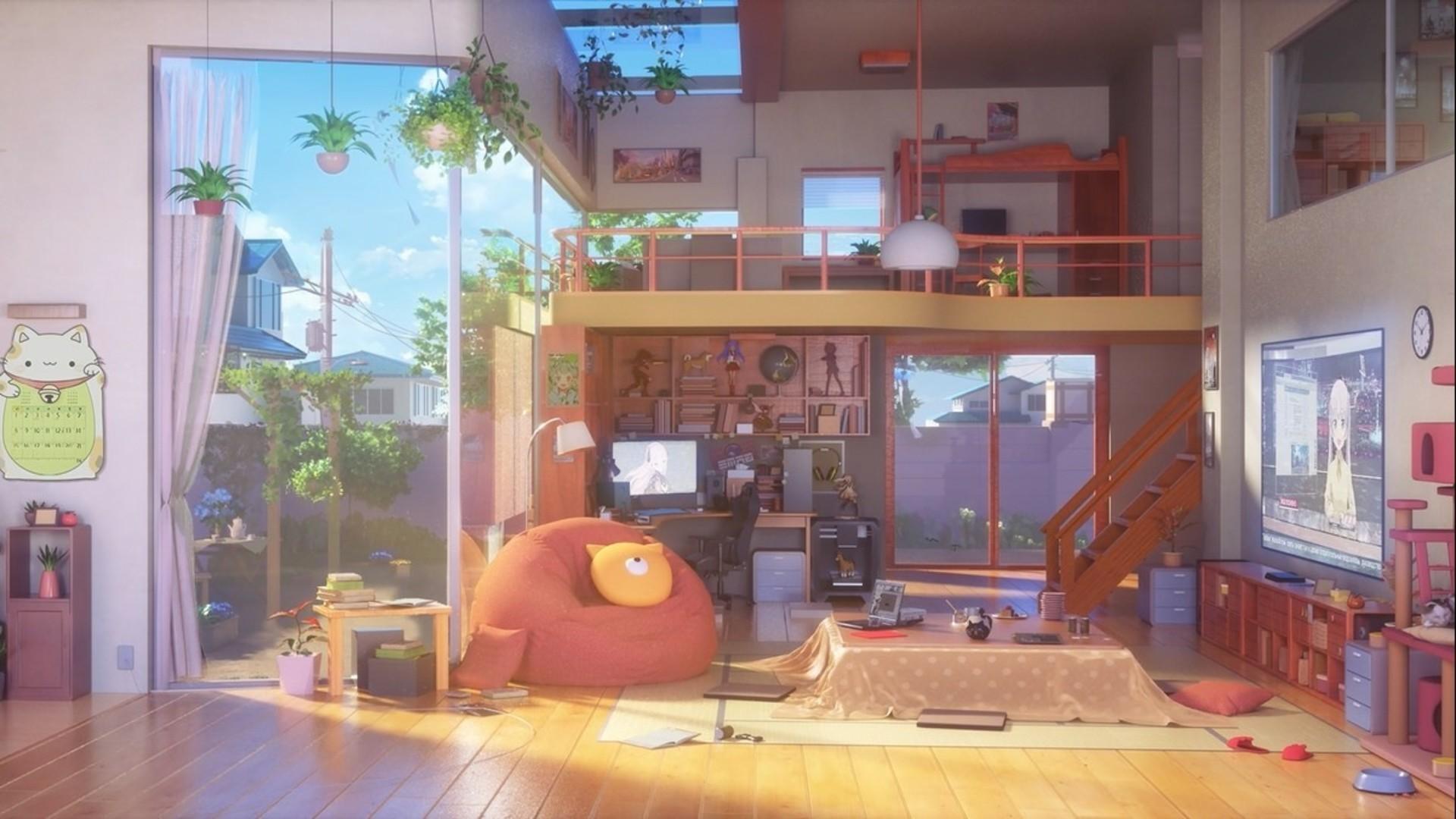 Anime Bedroom Wallpaper image hd
