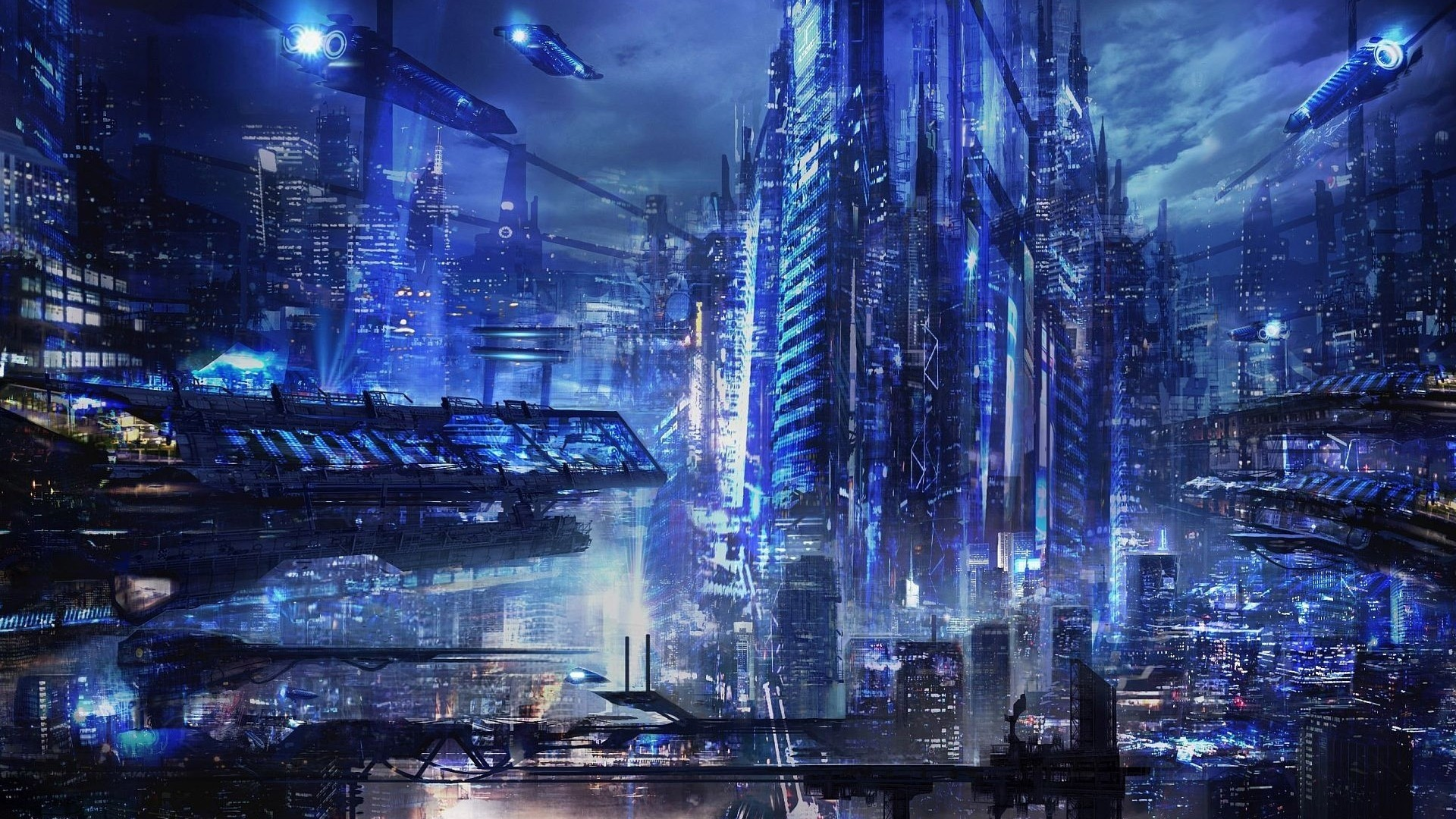 Futuristic Full HD Wallpaper