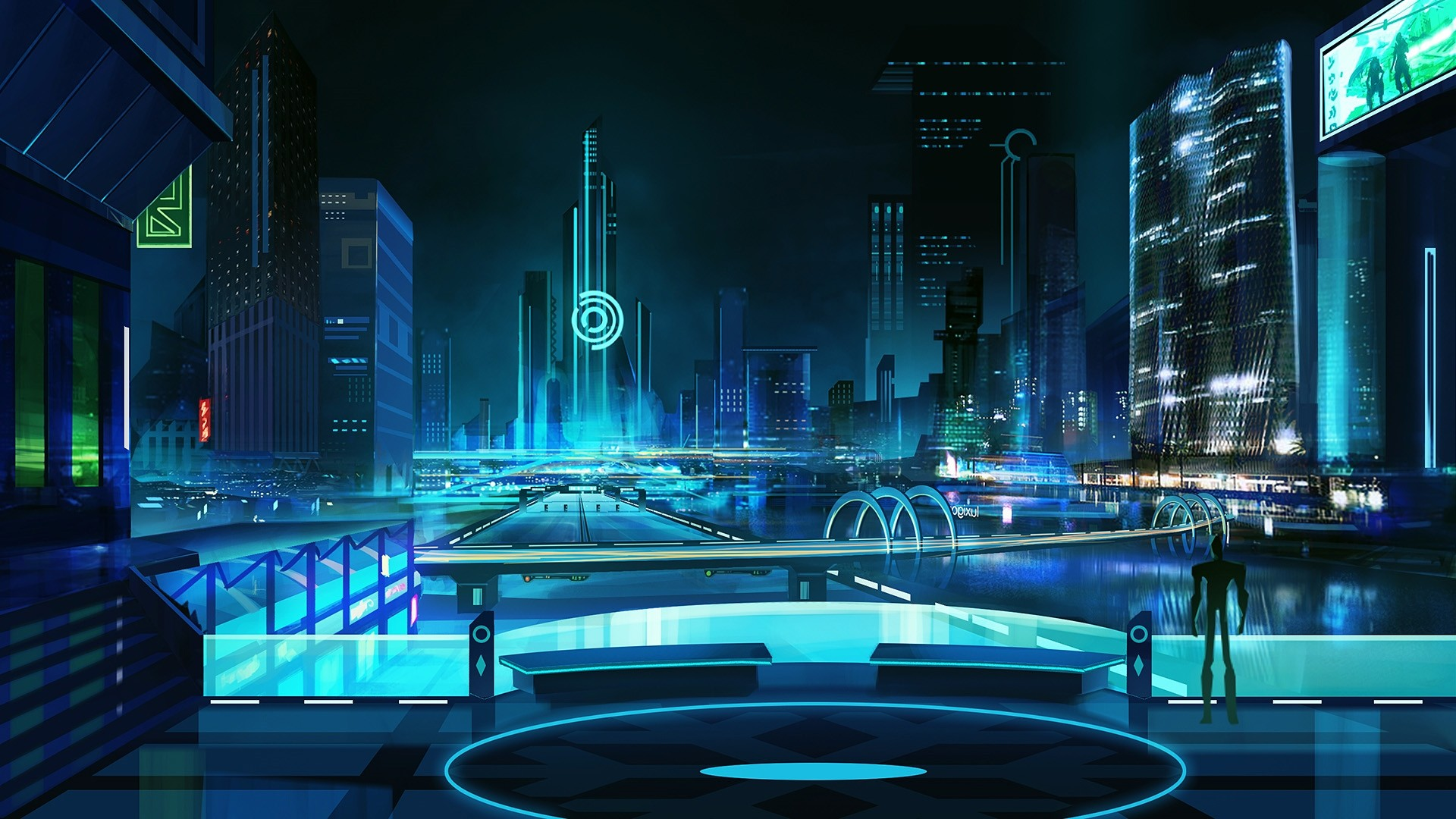 Futuristic hd desktop wallpaper