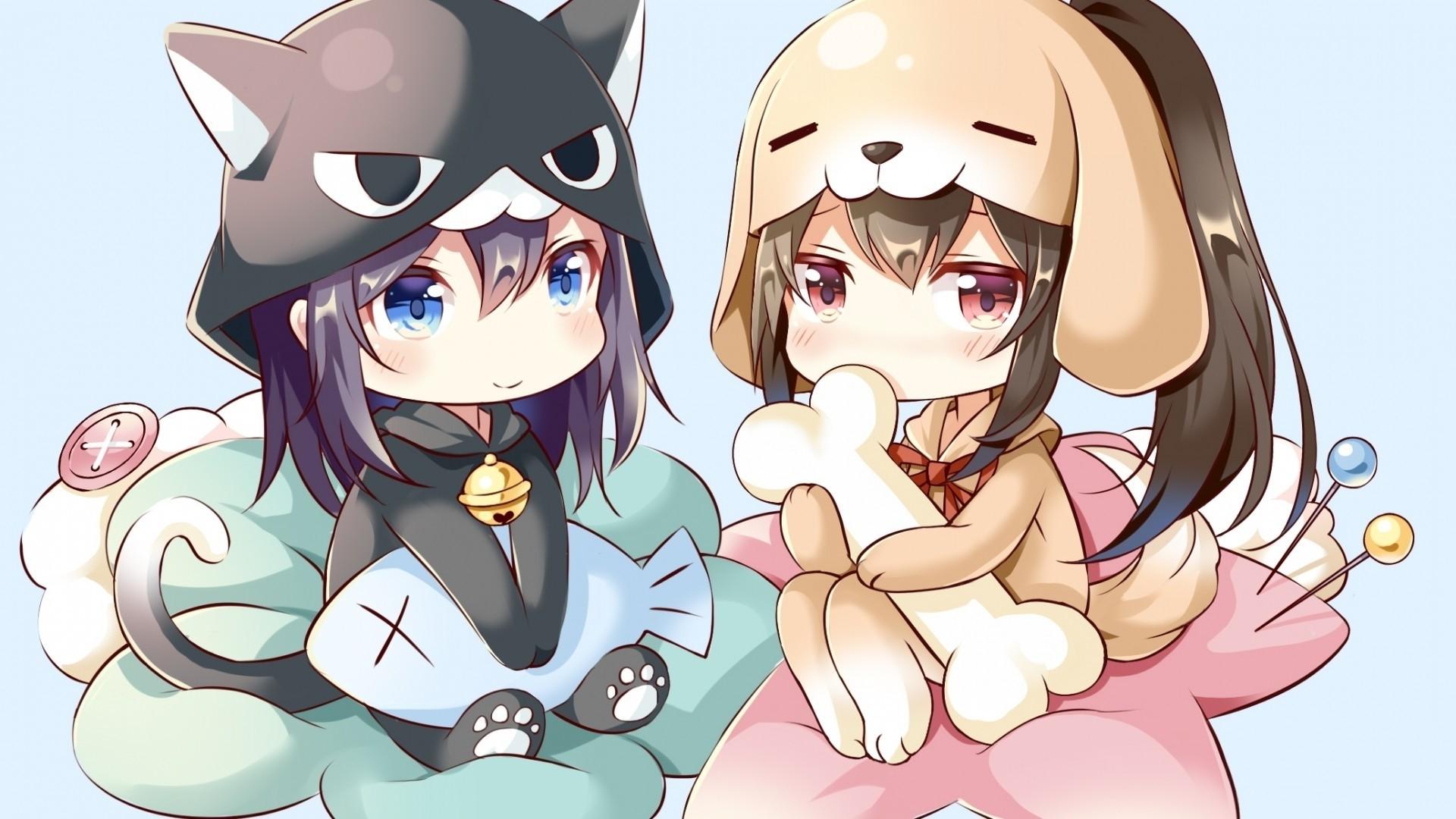 Chibi Anime Girl HD Wallpaper