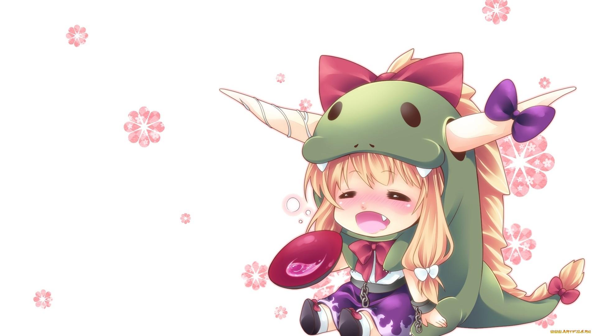 Chibi Anime Girl Desktop Wallpaper