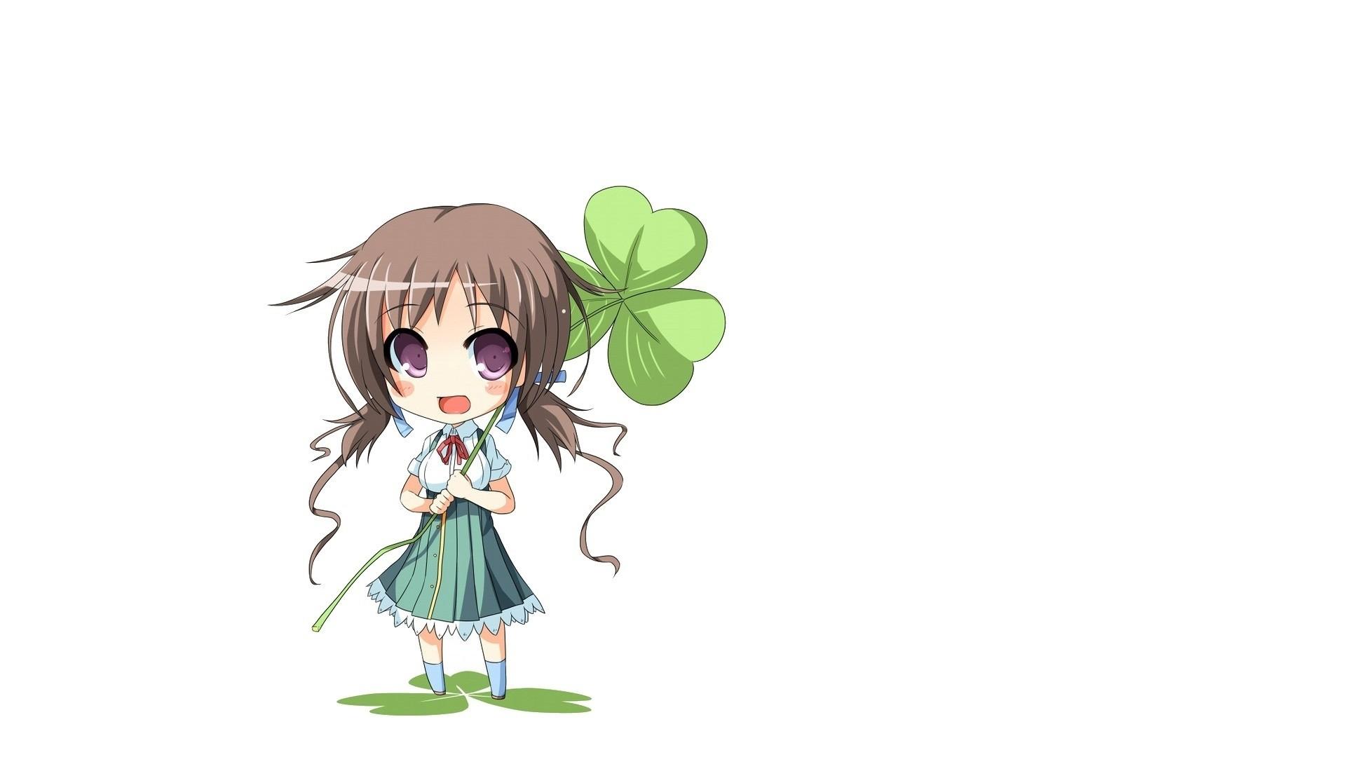 Chibi Anime Girl Background Wallpaper