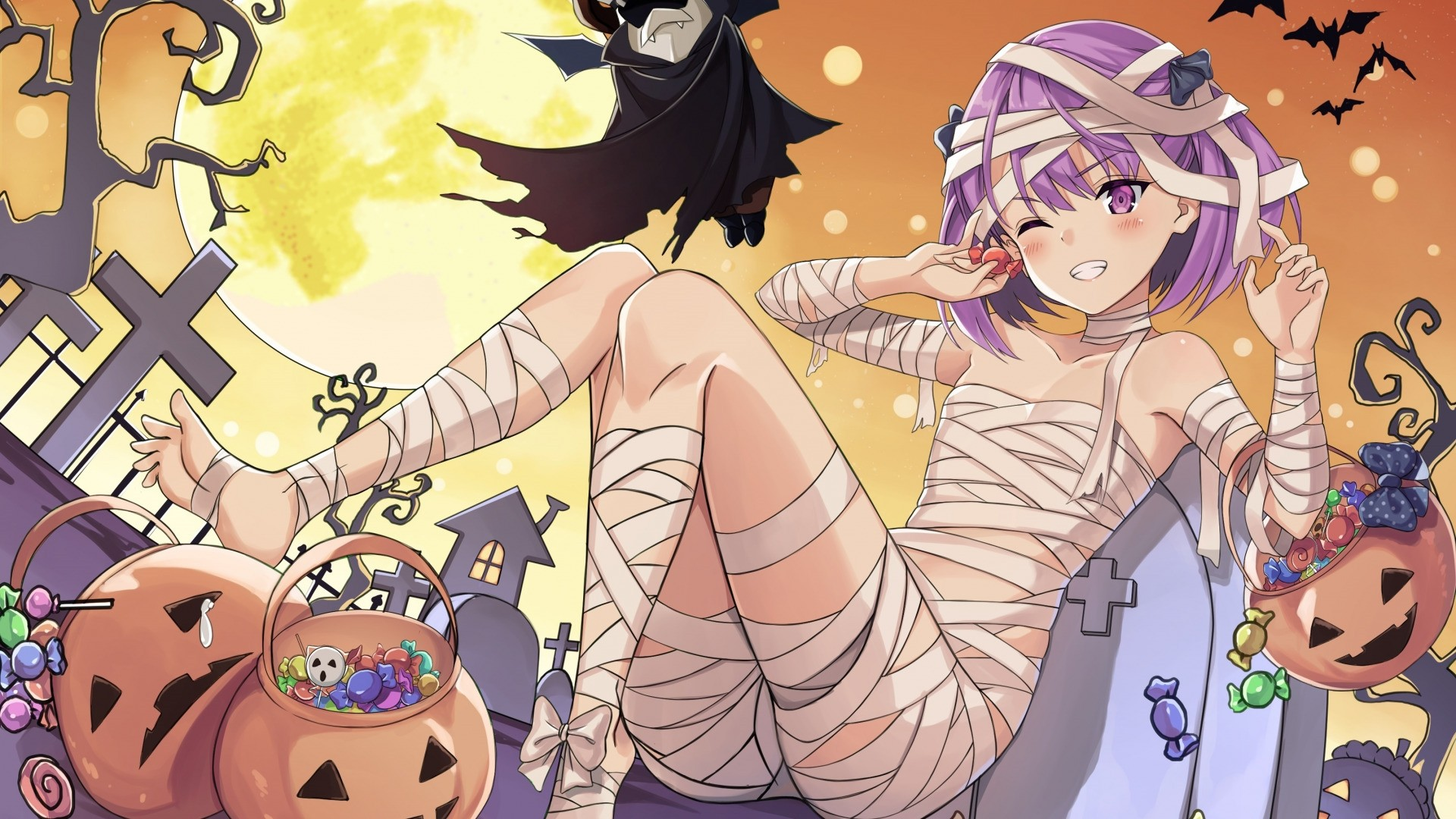 Halloween Anime PC Wallpaper HD