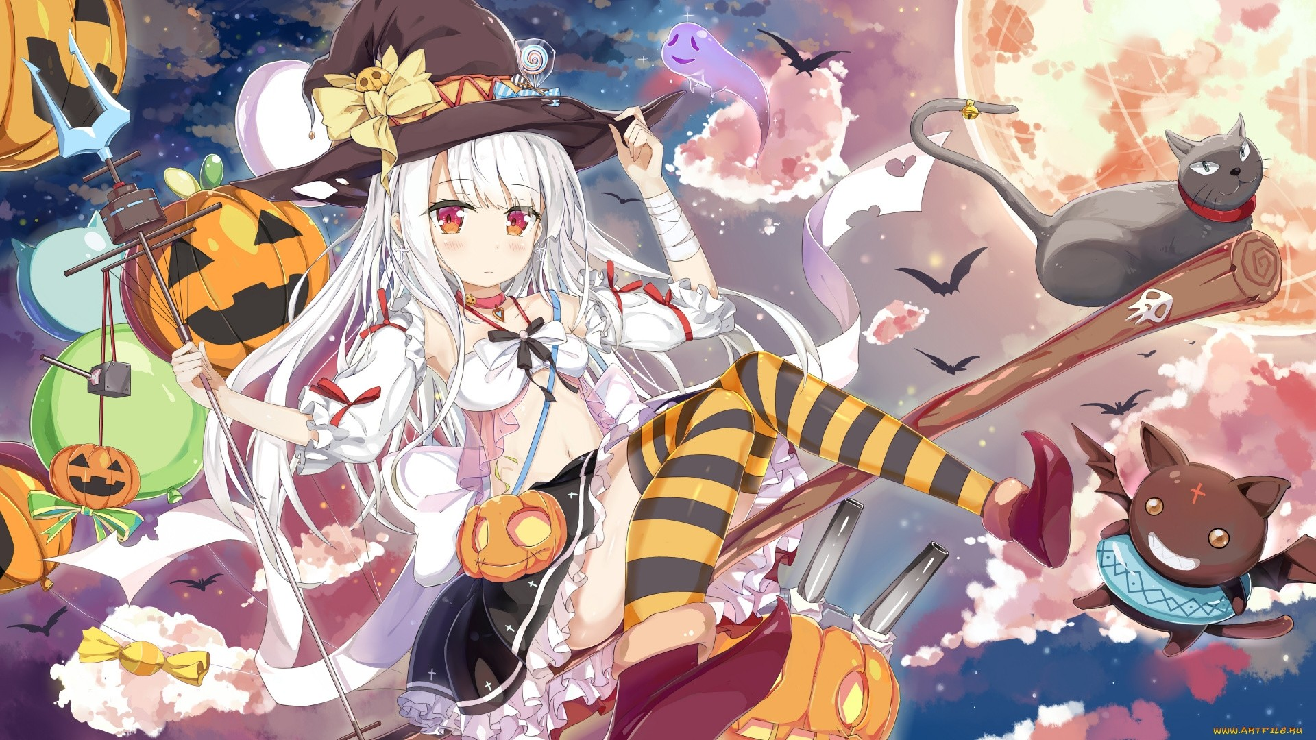 Halloween Anime Full HD Wallpaper