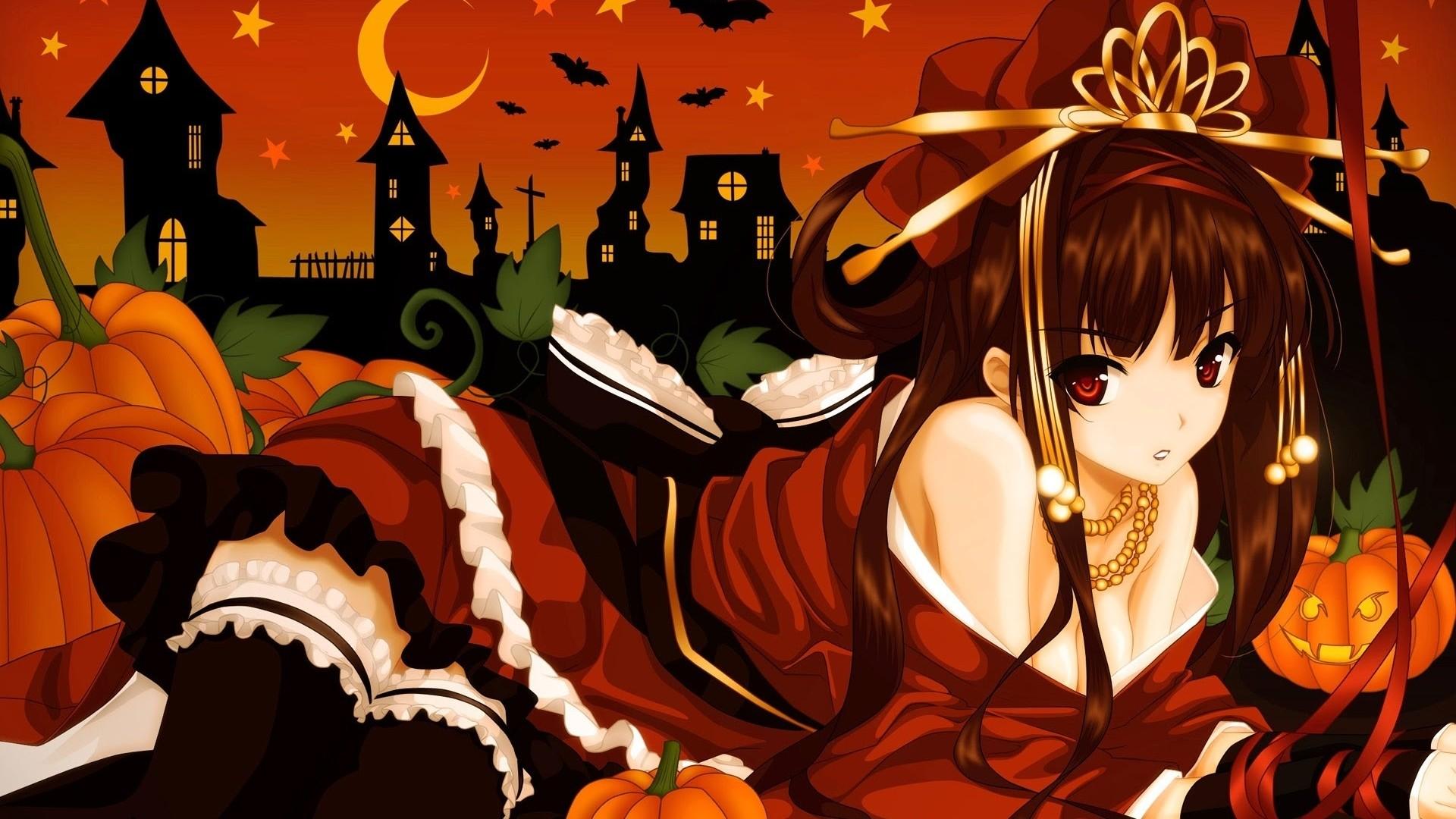 Halloween Anime Background Wallpaper