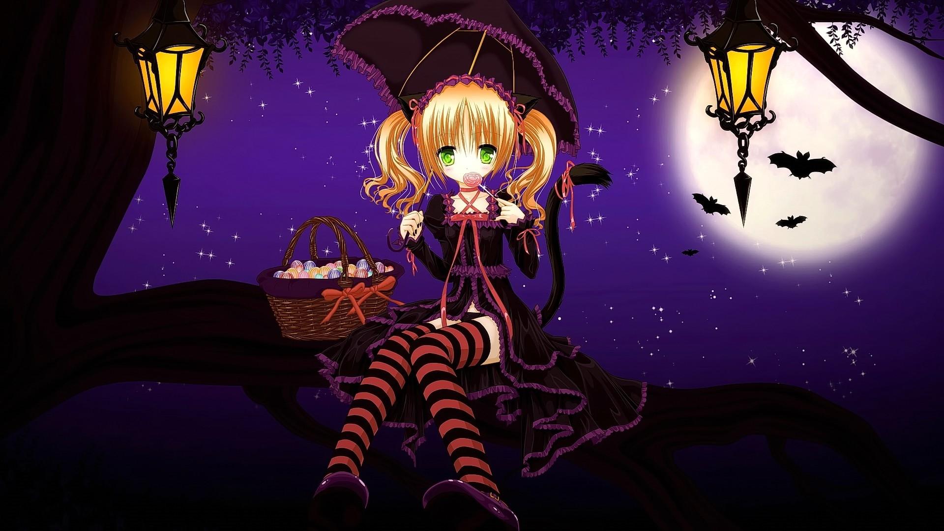 Halloween Anime Desktop Wallpaper