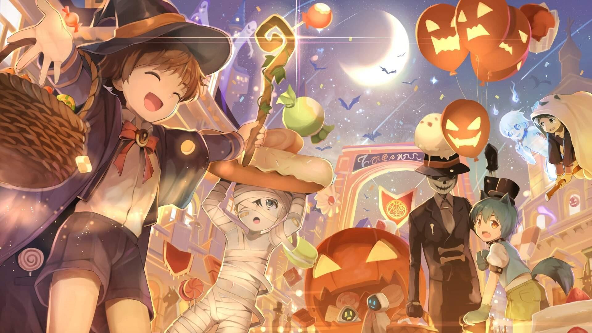 Halloween Anime Free Wallpaper