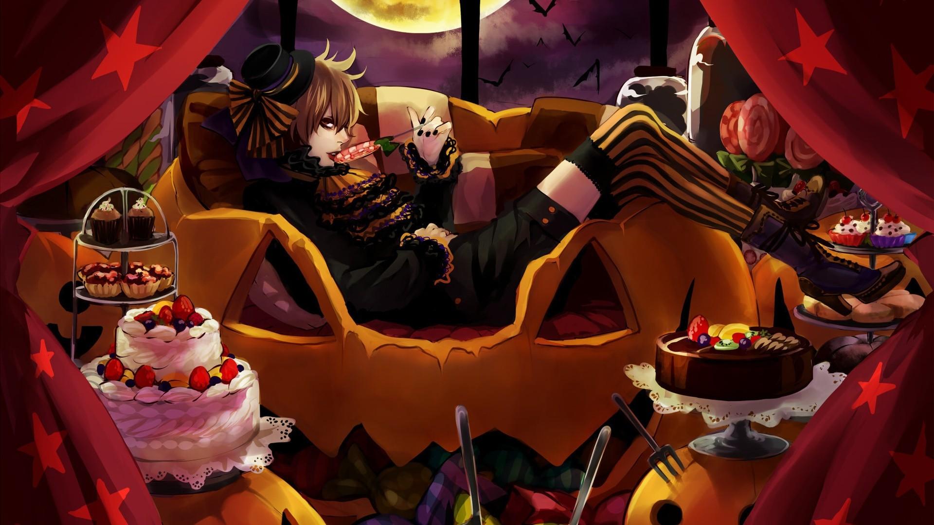 Halloween Anime computer wallpaper