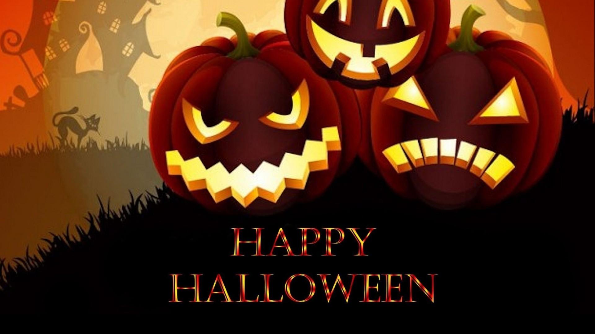 Halloween Greeting Card PC Wallpaper