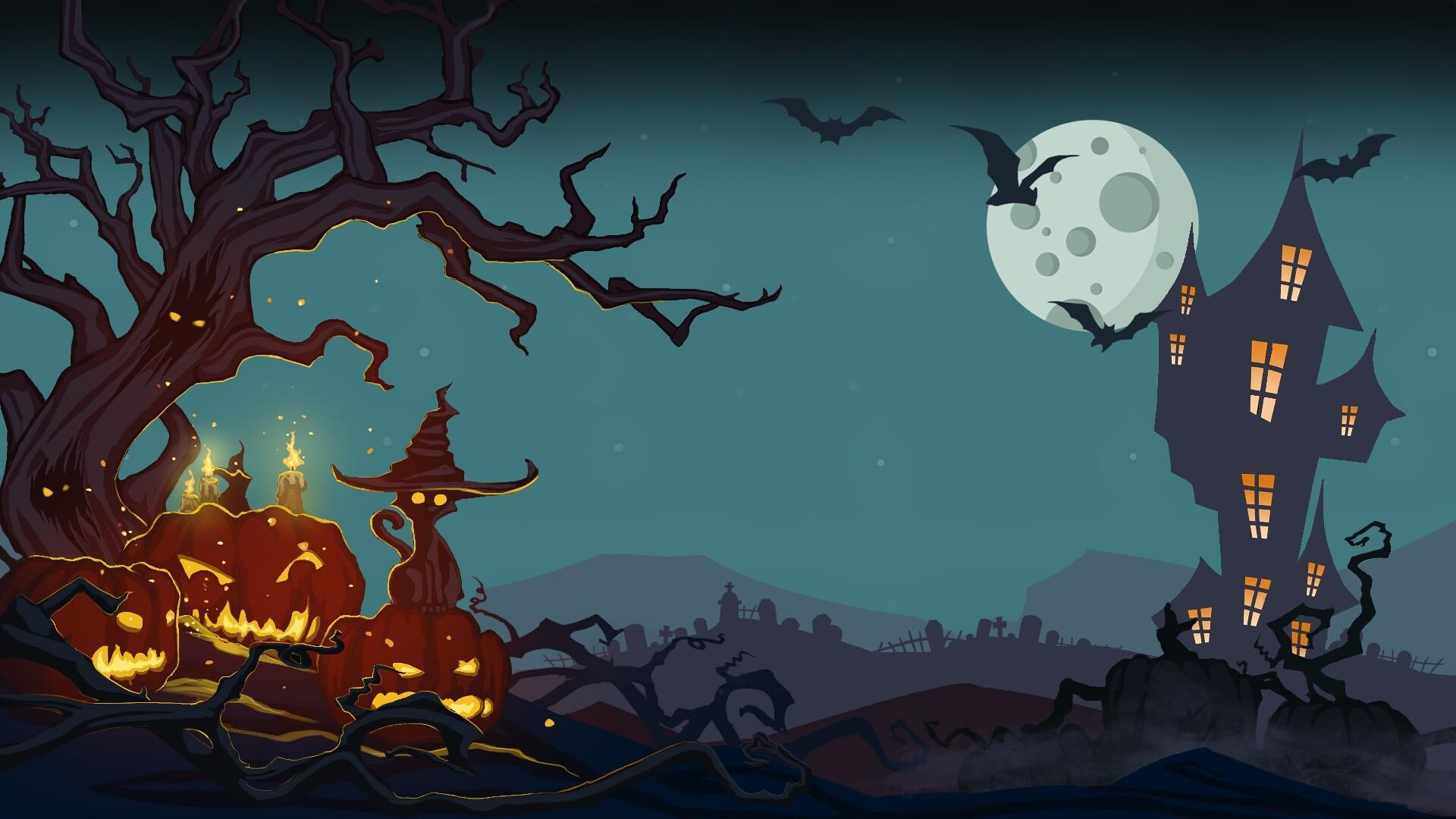 Halloween Greeting Card Desktop wallpaper