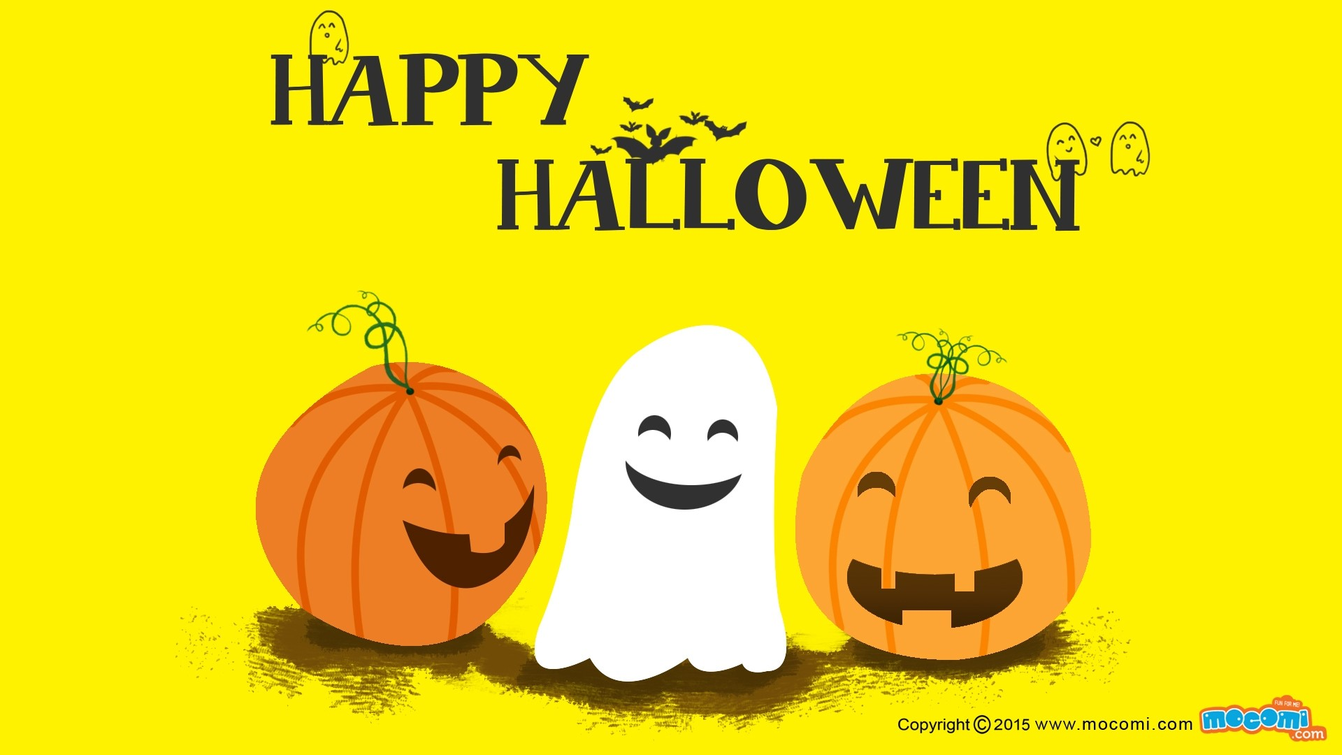 Halloween Greeting Card Wallpaper for pc