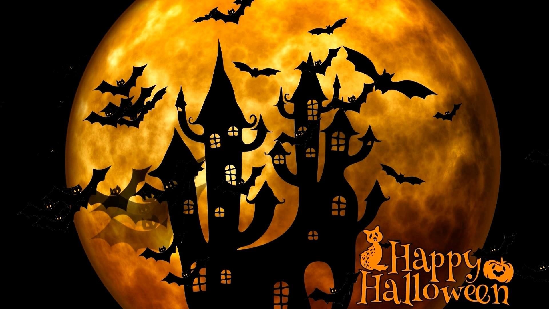 Halloween Greeting Card Wallpaper theme