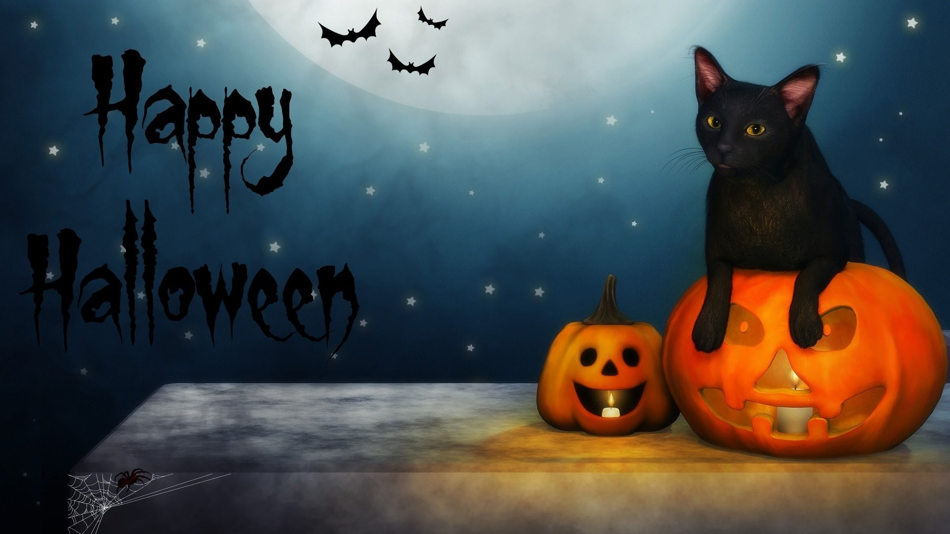 Halloween Greeting Card Free Wallpaper and Background