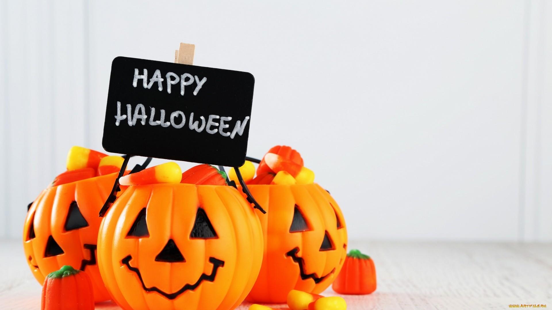 Halloween Greeting Card HD Wallpaper
