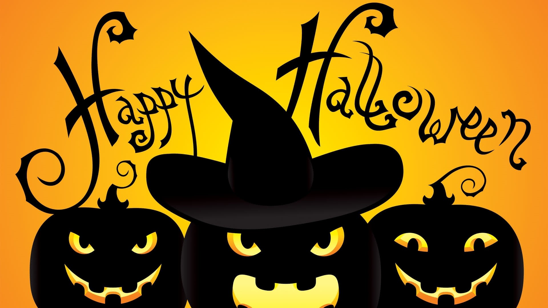 Halloween Greeting Card Wallpaper