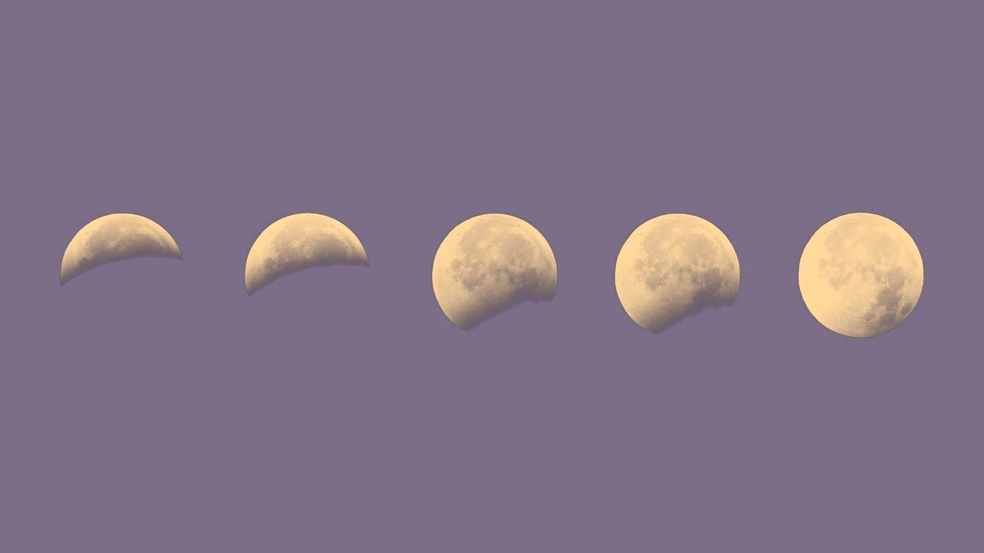 Moon Phases Full HD Wallpaper
