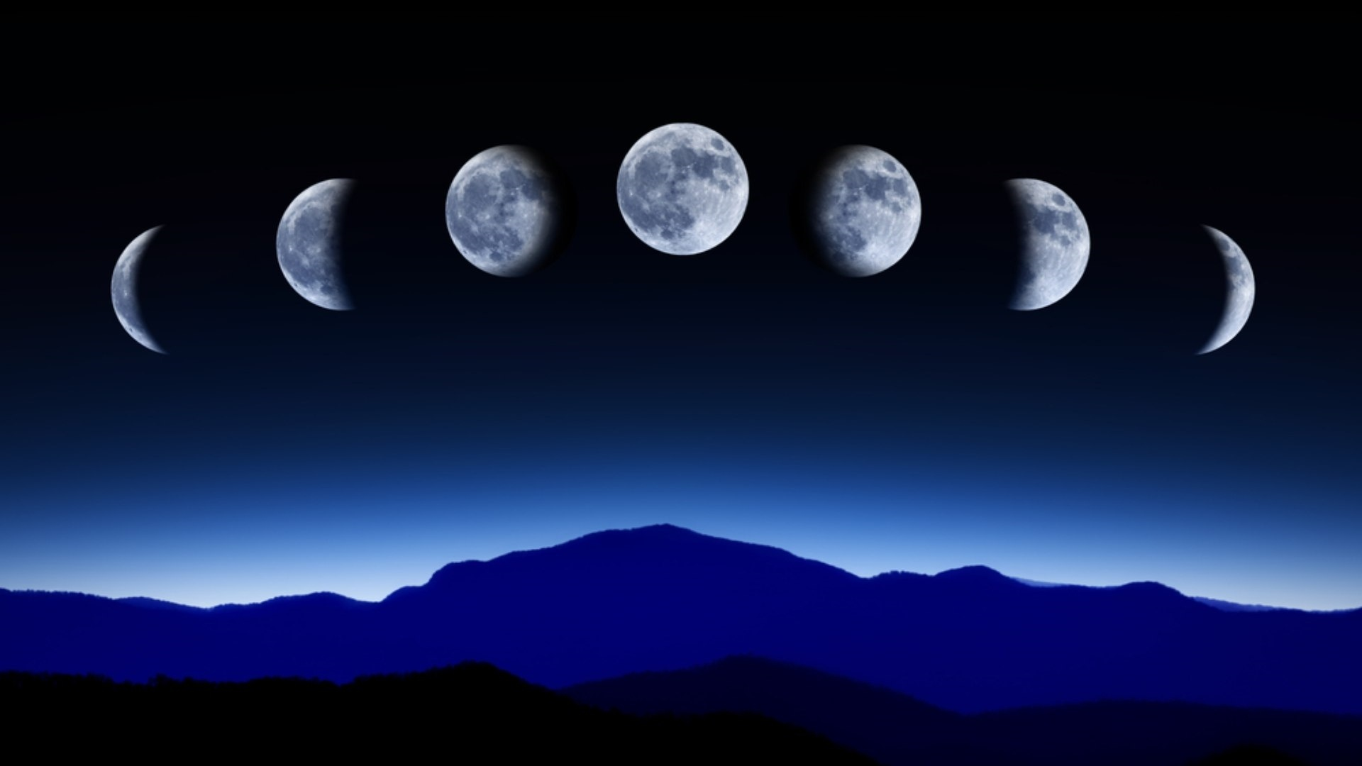 Moon Phases Wallpaper theme