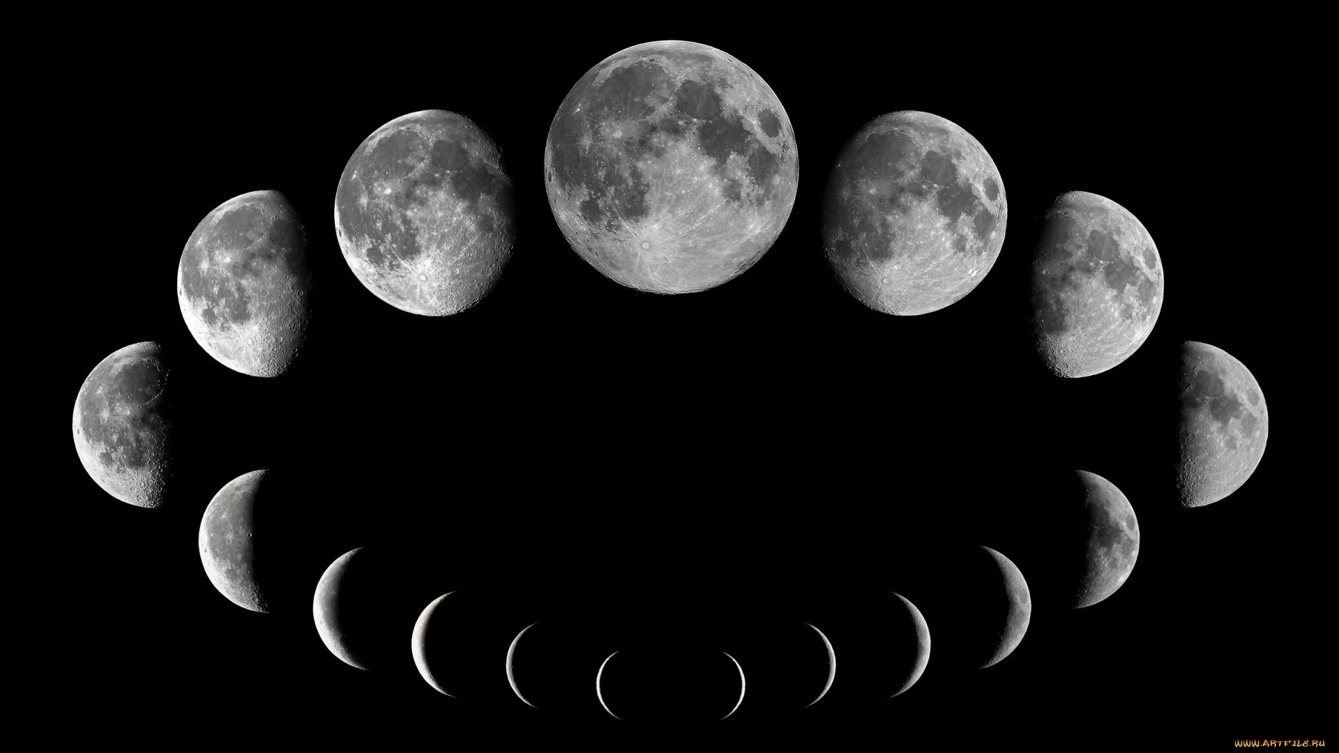 Moon Phases Download Wallpaper