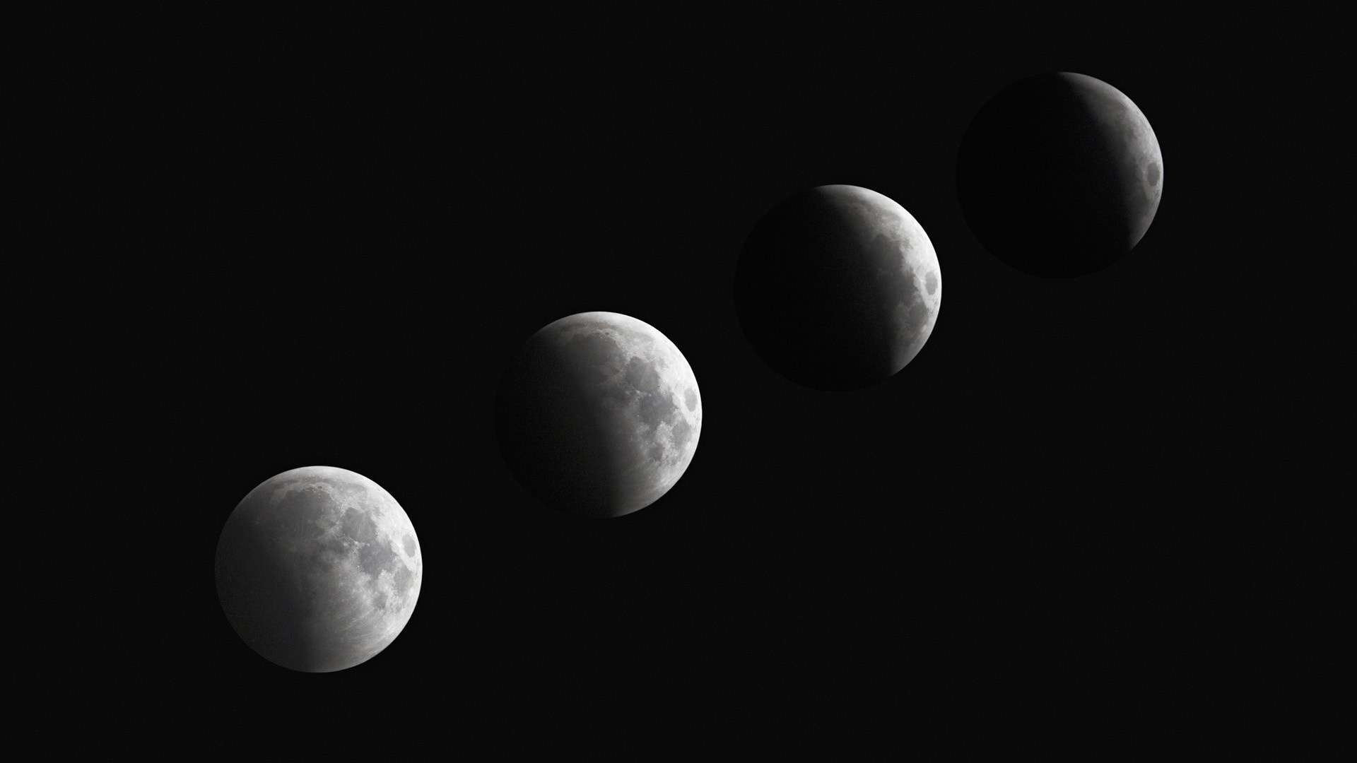 Moon Phases PC Wallpaper