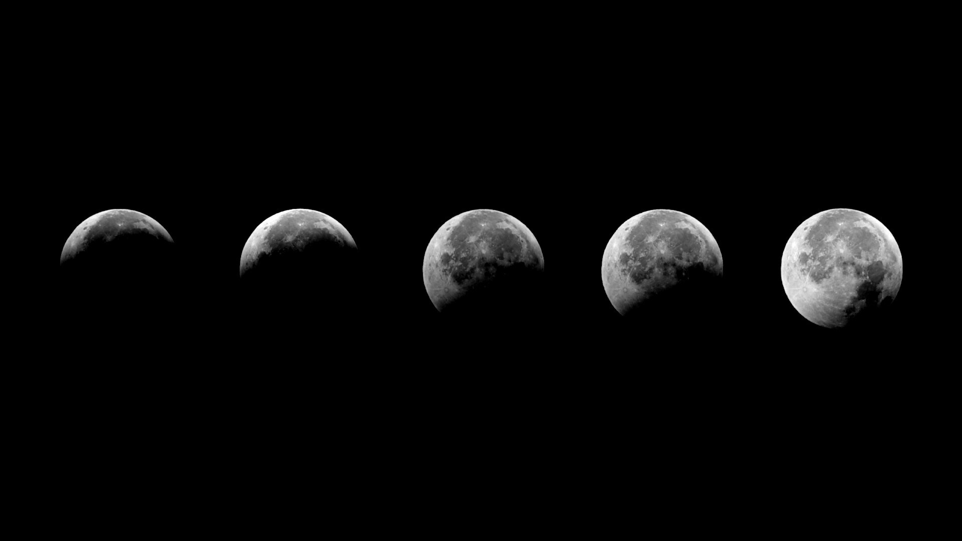 Moon Phases PC Wallpaper HD