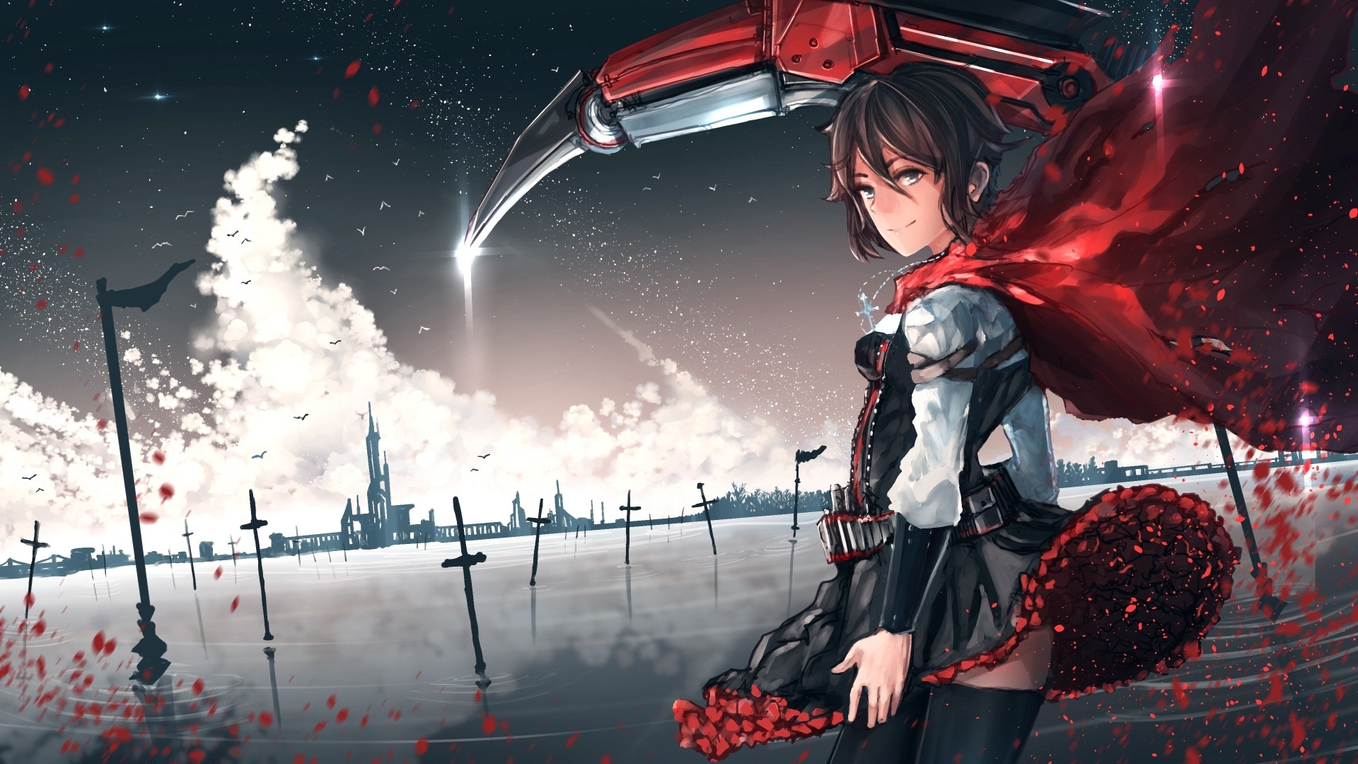 Red Anime Girl HD Download