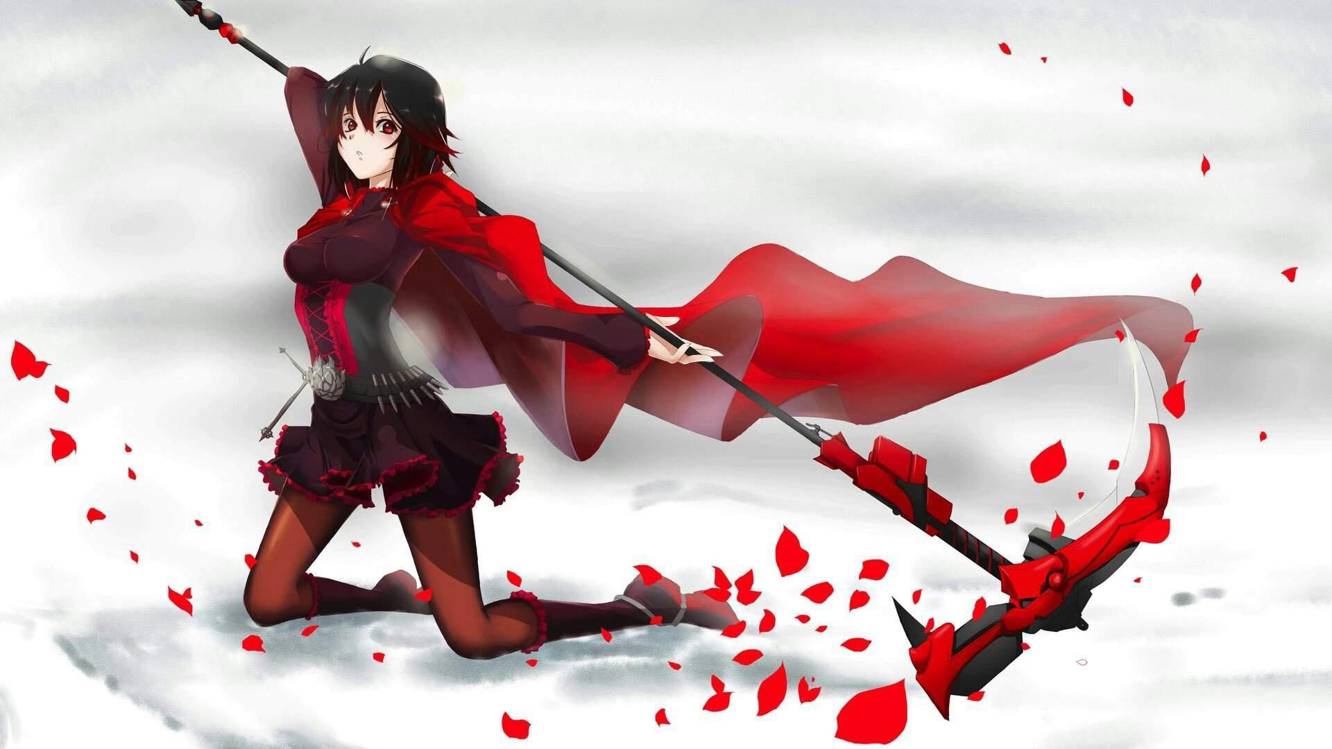 Red Anime Girl Wallpaper