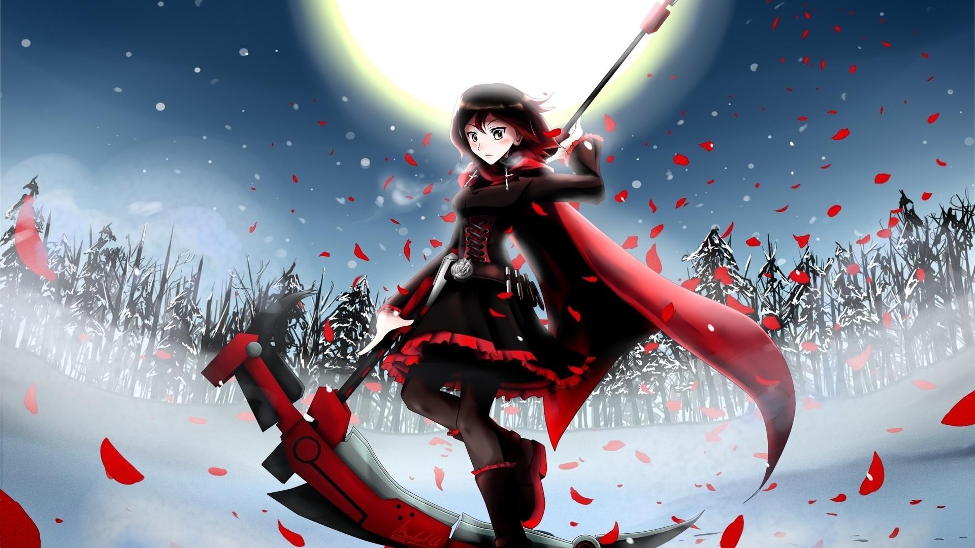 Red Anime Girl High Quality