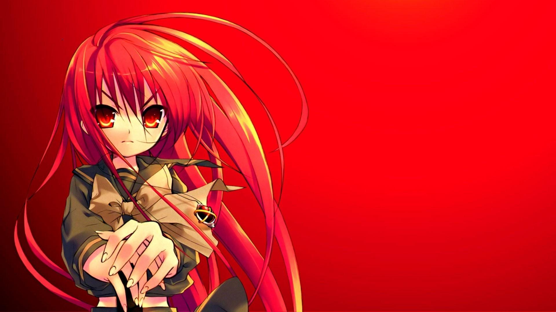 Red Anime Girl Wallpaper theme