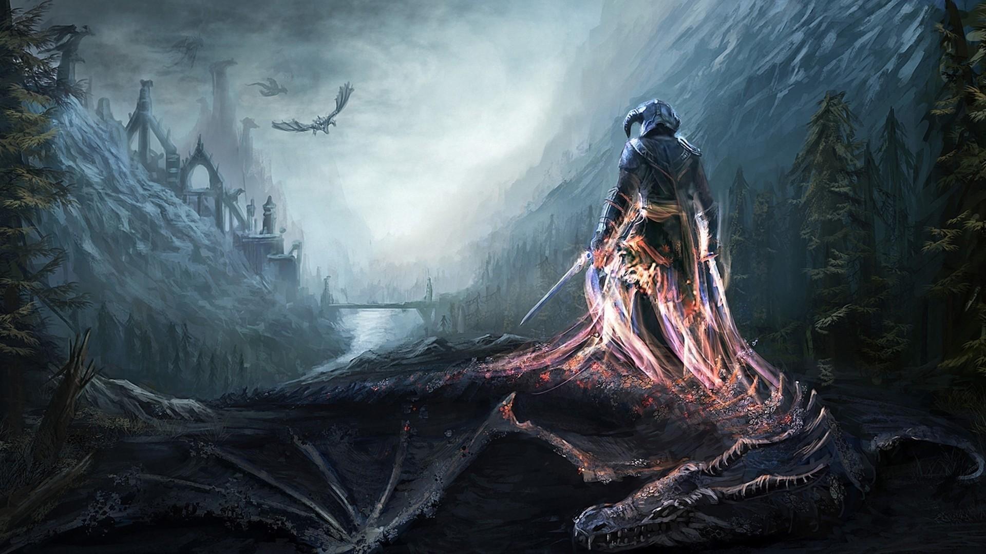 Elder Scrolls Background Wallpaper