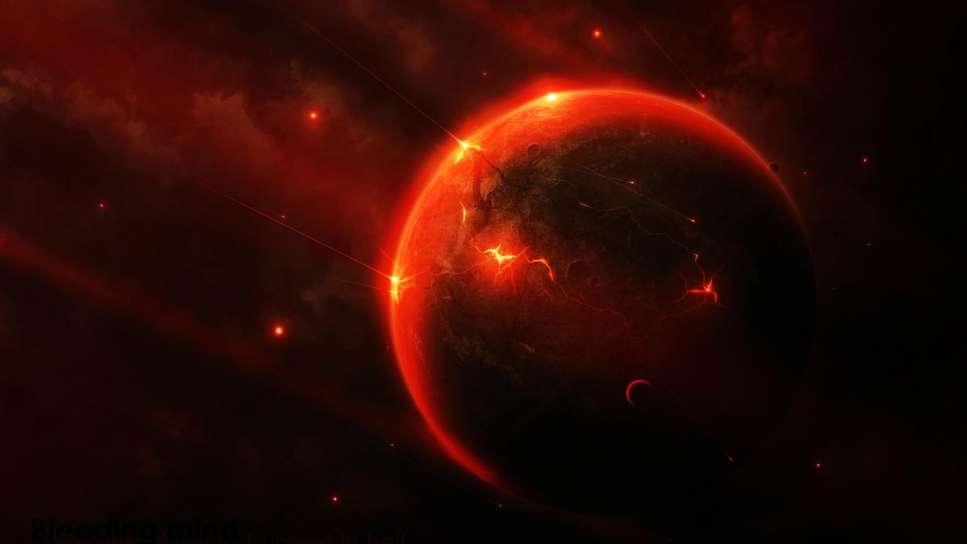 Red Space Desktop Wallpaper