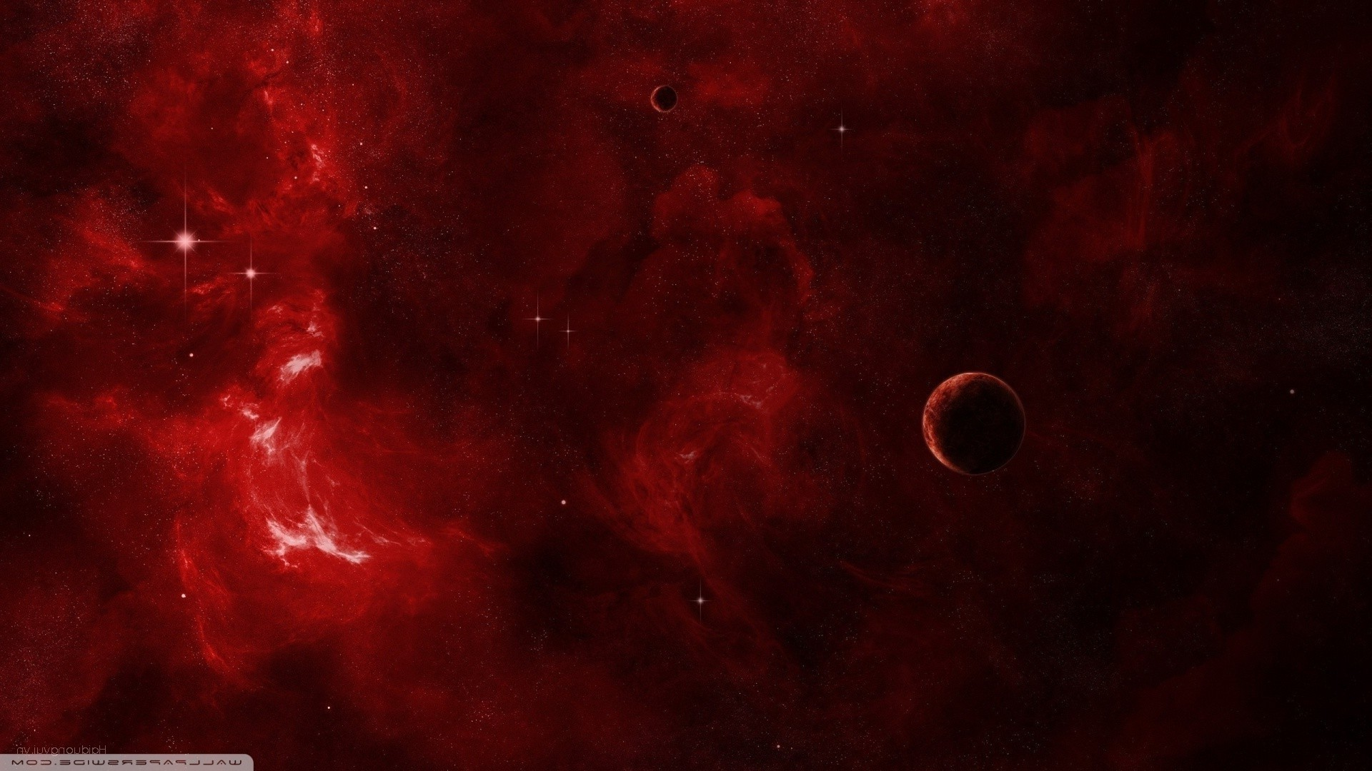 Red Space PC Wallpaper HD