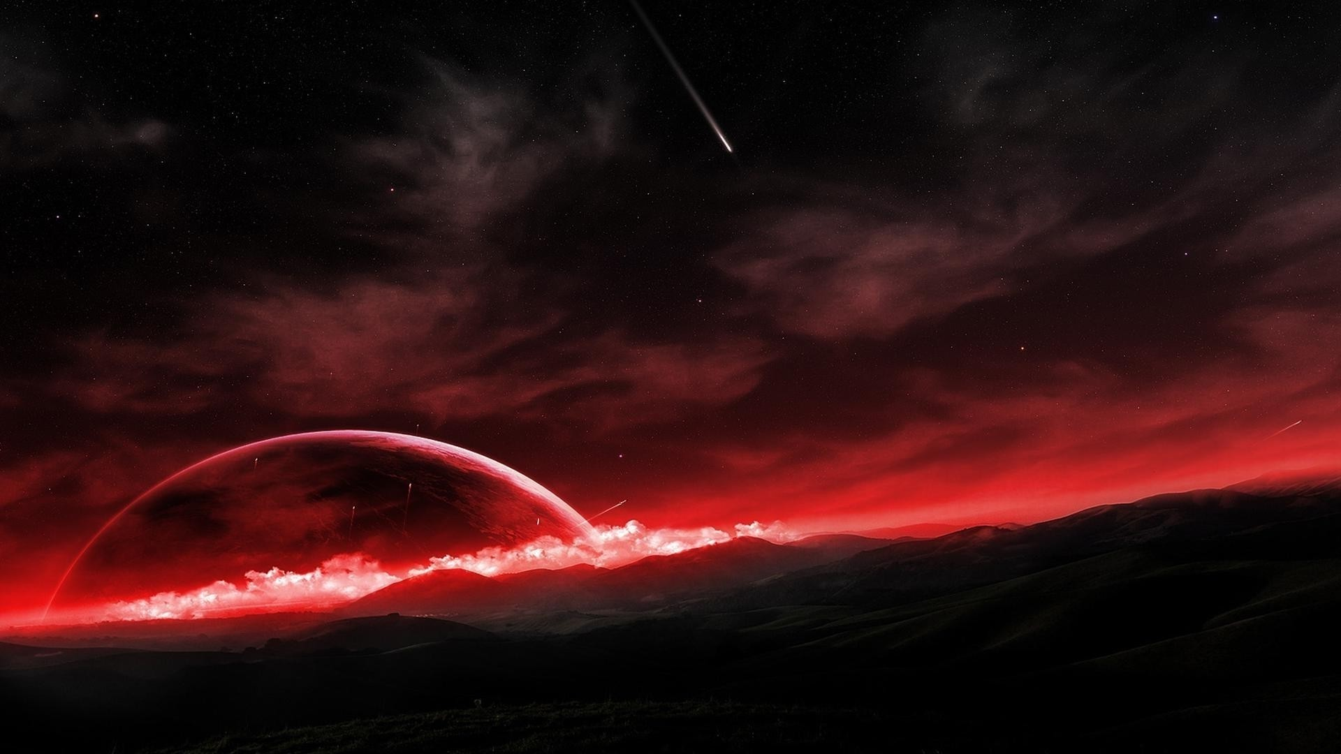 Red Space wallpaper photo hd