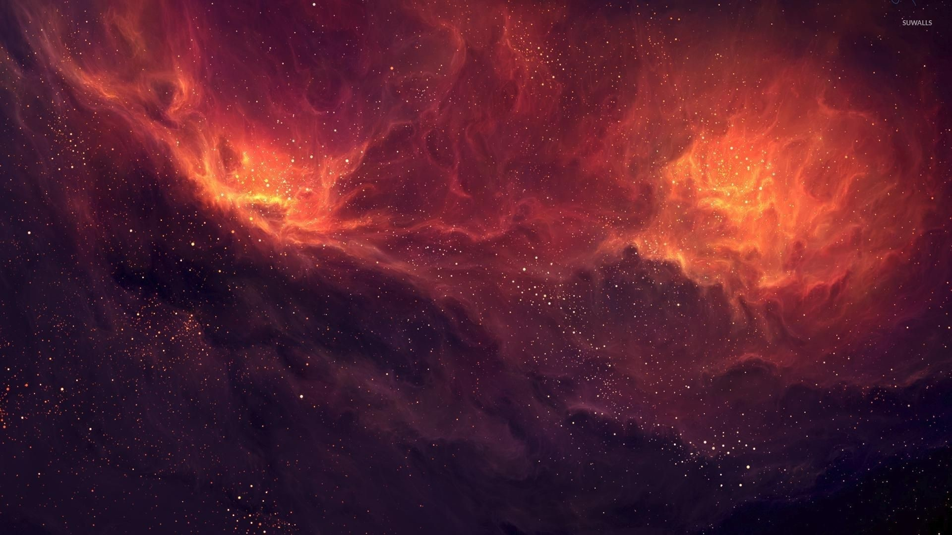 Red Space Free Wallpaper and Background