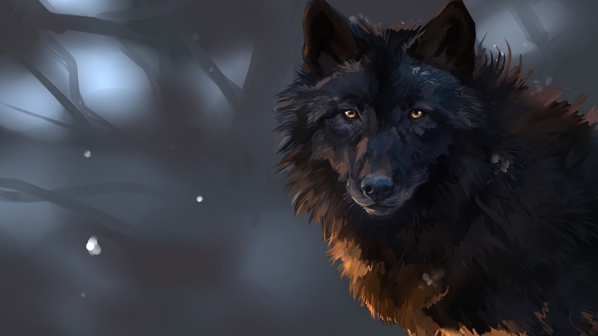 Black Wolf Desktop wallpaper