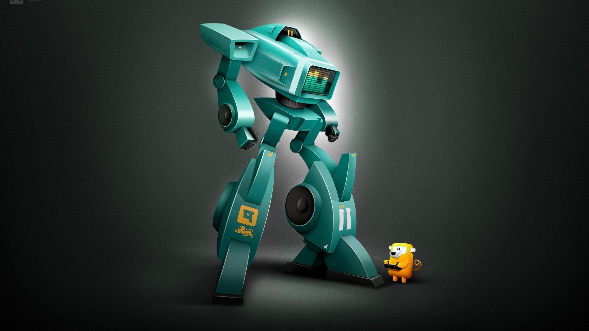 Robot hd desktop wallpaper