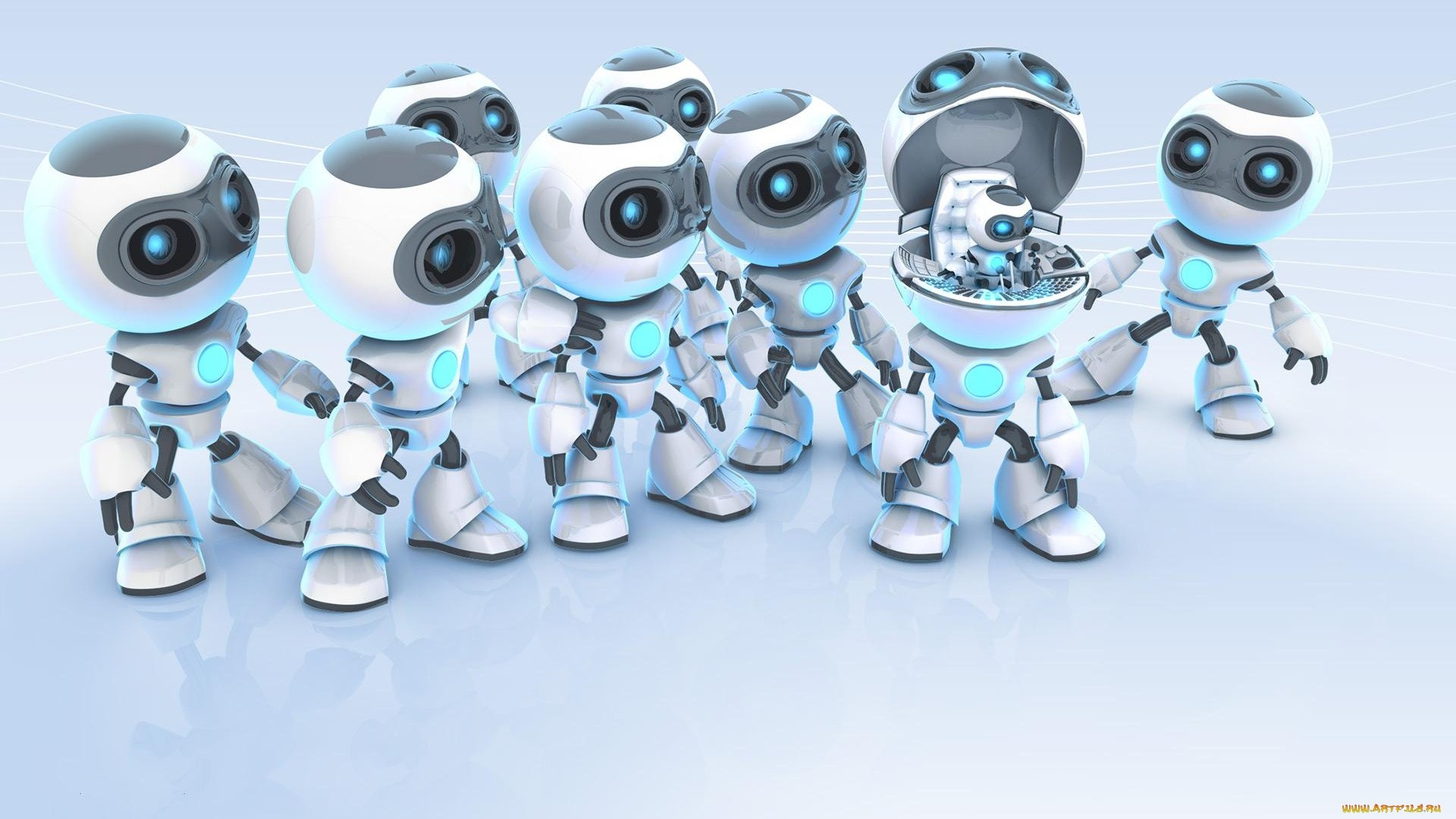 Robot Free Wallpaper
