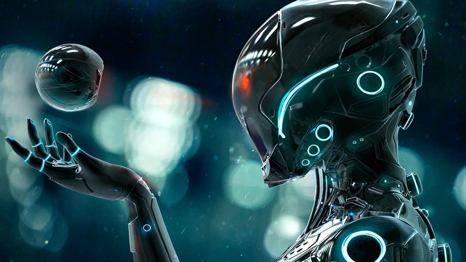Robot Full HD Wallpaper
