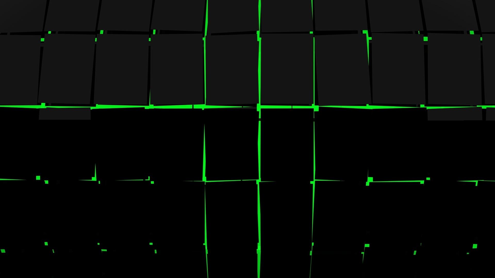 Black And Green PC Wallpaper HD