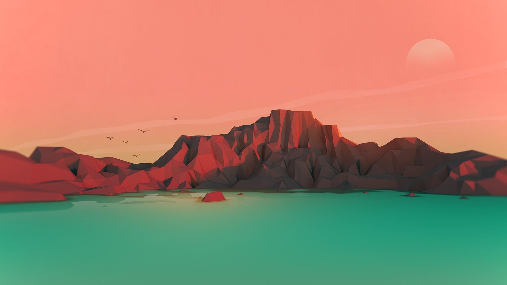 3d Minimalist Background Wallpaper