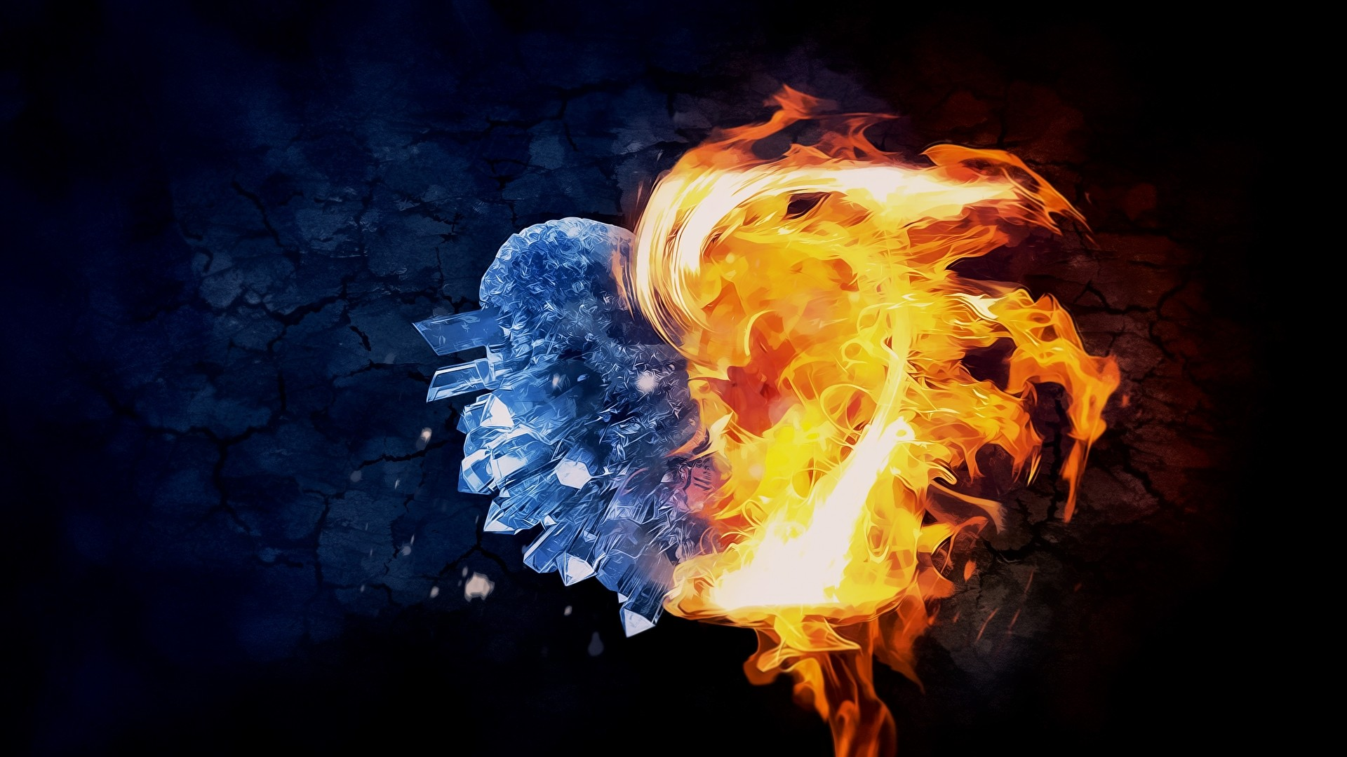 Fire And Ice a wallpaper