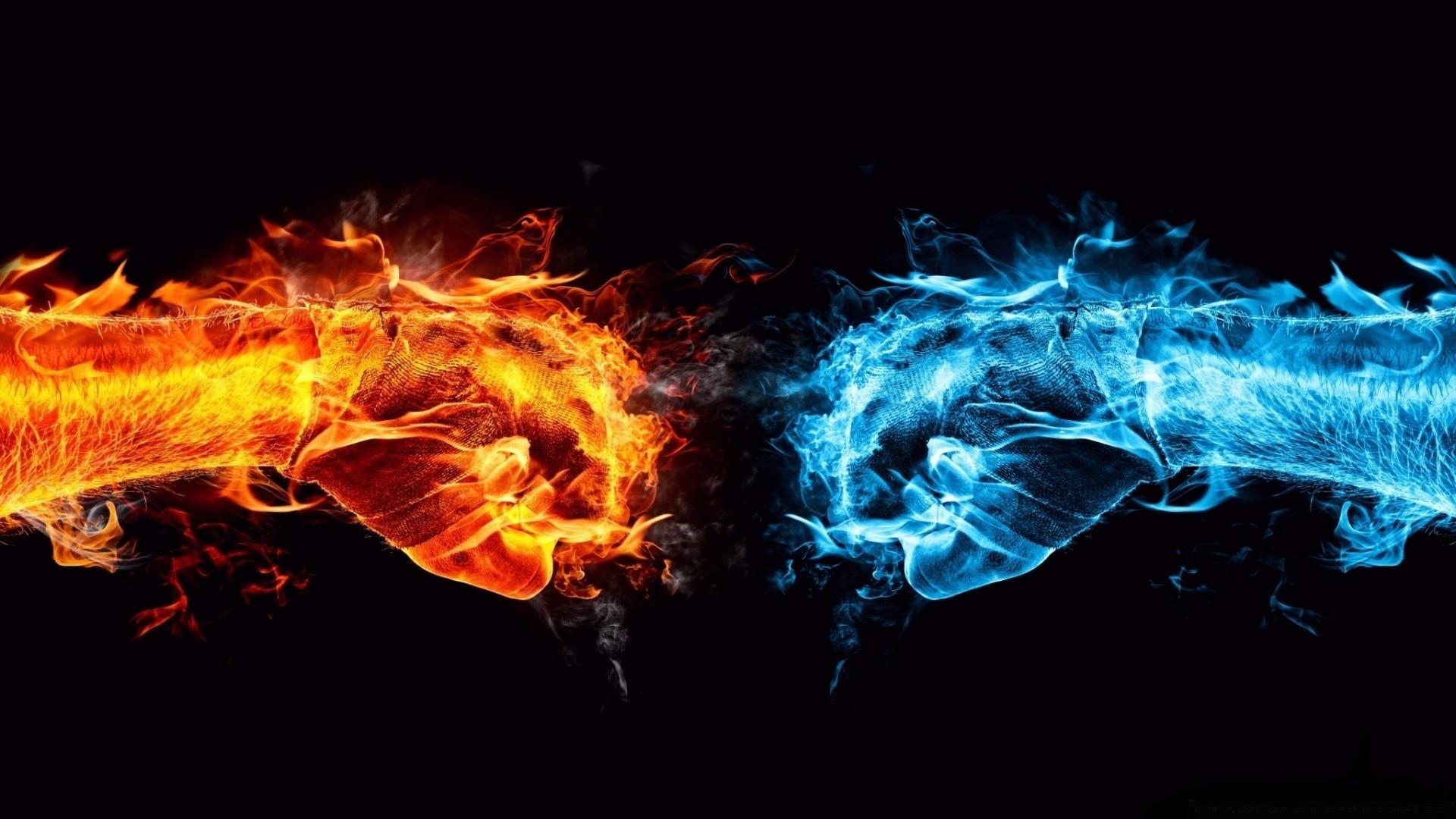 Fire And Ice hd desktop wallpaper