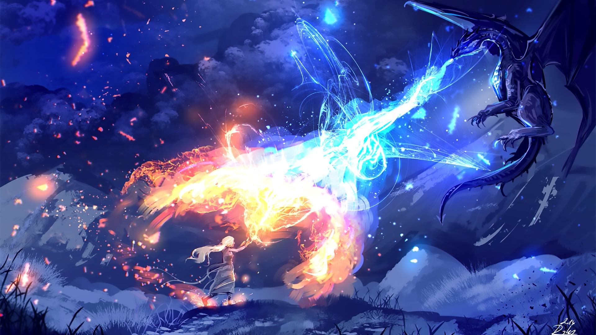 Fire And Ice Desktop Wallpaper