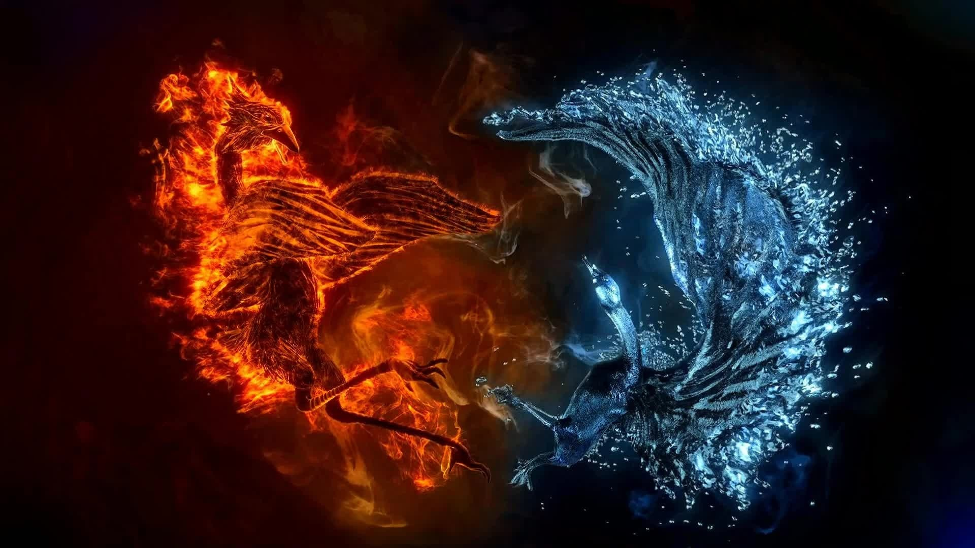 Fire And Ice computer wallpaper